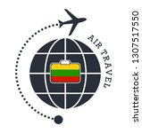 lithuania air travel. vector... | Shutterstock .eps vector #1307517550