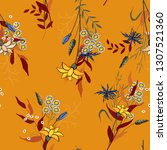 fantasy florals seamless... | Shutterstock .eps vector #1307521360