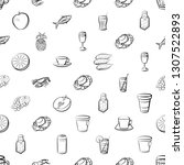 food images. background for... | Shutterstock .eps vector #1307522893