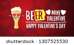 beer mine valentines vector... | Shutterstock .eps vector #1307525530