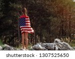 child teenager girl at nature... | Shutterstock . vector #1307525650