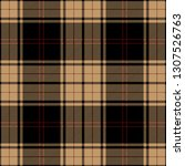 tan  red and black tartan plaid.... | Shutterstock .eps vector #1307526763
