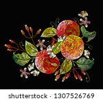 embroidery apples and white... | Shutterstock .eps vector #1307526769