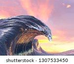 Beautiful Curl Of The Ocean...