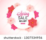 spring sale banner design with... | Shutterstock .eps vector #1307534956