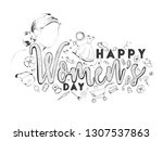 doodle style poster or banner... | Shutterstock .eps vector #1307537863