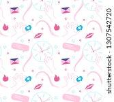 girlish seamless pattern in...   Shutterstock .eps vector #1307542720