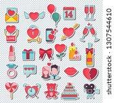 inspiring set of stickers for...   Shutterstock . vector #1307544610