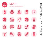 death icon set. collection of... | Shutterstock .eps vector #1307547223