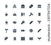 sausage icon set. collection of ... | Shutterstock .eps vector #1307547226