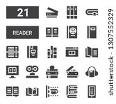 reader icon set. collection of... | Shutterstock .eps vector #1307552329