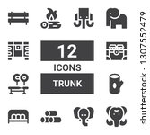 trunk icon set. collection of... | Shutterstock .eps vector #1307552479
