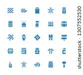 filled icon set. collection of... | Shutterstock .eps vector #1307552530