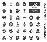 peace icon set. collection of... | Shutterstock .eps vector #1307552590