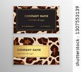 business card trendy leopard... | Shutterstock .eps vector #1307553139