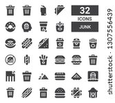 junk icon set. collection of 32 ...   Shutterstock .eps vector #1307556439