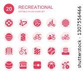recreational icon set.... | Shutterstock .eps vector #1307556466