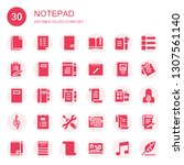notepad icon set. collection of ...   Shutterstock .eps vector #1307561140