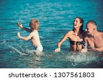 love and trust as family values.... | Shutterstock . vector #1307561803