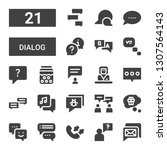 dialog icon set. collection of...