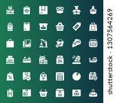 merchandise icon set.... | Shutterstock .eps vector #1307564269