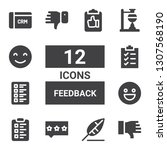 feedback icon set. collection...
