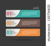 vector number options banner  ... | Shutterstock .eps vector #130756820
