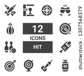 hit icon set. collection of 12...   Shutterstock .eps vector #1307568379
