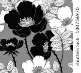 seamless pattern with dog roses