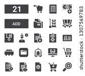 add icon set. collection of 21... | Shutterstock .eps vector #1307569783