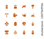 botany icon set. collection of... | Shutterstock .eps vector #1307569936