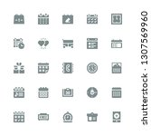 date icon set. collection of 25 ... | Shutterstock .eps vector #1307569960