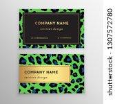 business card trendy leopard... | Shutterstock .eps vector #1307572780
