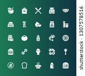 nutrition icon set. collection... | Shutterstock .eps vector #1307578516