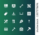 hardware icon set. collection... | Shutterstock .eps vector #1307578696