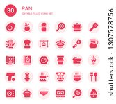 pan icon set. collection of 30... | Shutterstock .eps vector #1307578756