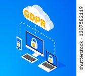 general data protection... | Shutterstock . vector #1307582119