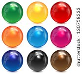 Set Of Colored Spheres On A...