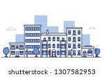 urban city landscape with... | Shutterstock .eps vector #1307582953