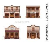 Old West Town Buildings  Saloon ...