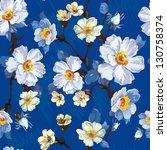 abstract flower seamless... | Shutterstock .eps vector #130758374