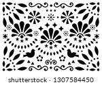 mexican traditional folk art... | Shutterstock .eps vector #1307584450