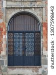 unique doors of the old... | Shutterstock . vector #1307598643