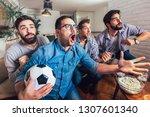 Men Watching Sport On Tv...