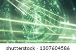 abstract background  green... | Shutterstock . vector #1307604586