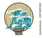 surf time card | Shutterstock .eps vector #1307605540