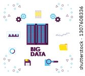 big data technology | Shutterstock .eps vector #1307608336