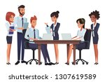 executive business coworkers... | Shutterstock .eps vector #1307619589