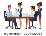 executive business coworkers...   Shutterstock .eps vector #1307622013