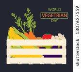 world vegetarian day... | Shutterstock . vector #1307637559